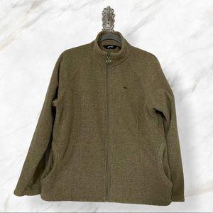 Avia XL Green soft shell zip jacket outdoor fleece